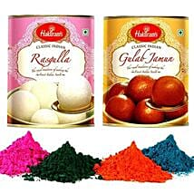 Gulab Jamun and Rasgulla with Holi Gulal: Send Sweets to USA