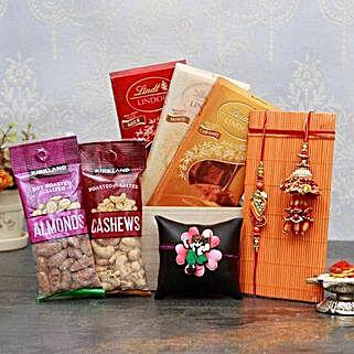 Healthy n Yummy Rakhi Pack: Rakhi for Bhaiya Bhabhi USA