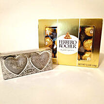Heart Shaped Diyas & Ferrero Rocher Combo: Send Diwali Gifts to Los Angeles