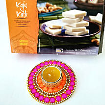 Kaju Katli & Floral Candle Combo for Diwali: Send Diwali Gifts to San Francisco