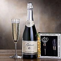 Kiarna Sparkling Wine Gift Set: Send Gifts for Father to USA