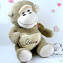Love Monkey Soft Toy: Send Valentine Gifts to Chicago