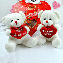 Love Teddies N Chocolates Combo: Send Valentine Gifts to Chicago