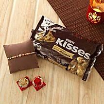 Lovely Rakhi with Hershey Kisses: Send Rakhi to New Jersey
