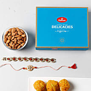 Luxurious Rakhi Celebration: Rakhi With Dryfruits USA
