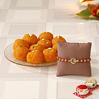 Om Rakhi N Motichoor K Laddoo: Rakhi With Sweets USA