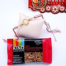 Om Rakhi With Granola Bar: Send Rakhi to New Jersey