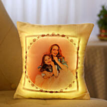 Personalized Cool Yellow LED Cushion: Send Personalised Gifts to USA