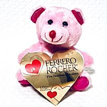 Pink Teddy With Chocolates: Send Valentine Gifts to Chicago