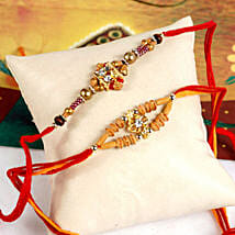 Radiant Rakhi Set: Send Rakhi to San Francisco