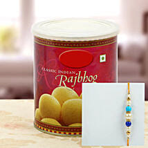 Rajbhog with Multy Color Pearl Rakhi: Rakhi to New Jersey