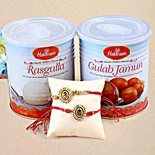 Rakhis Rasgulla and Gulab Jamun: Rakhi With Sweets to USA