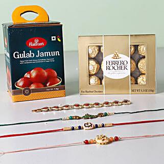 Rakhis With Sweets And Chocolates: Rakhi and Chocolates USA