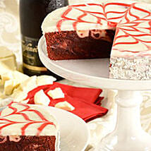 Red Velvet Brownie Cake: Valentine's Day Gift Delivery Chicago