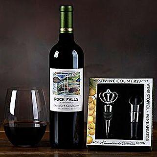 Rock Falls Vineyards Cabernet Gift Set: Gift Basket Delivery in USA