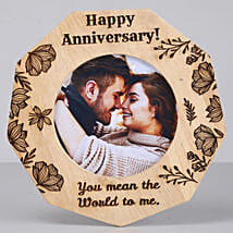 Romantic Anniversary One Personalised Wooden Frame: Gifts for Anniversary in USA