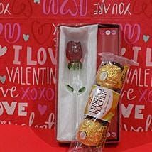 Rose N Chocolates Combo: Valentines Day Gifts to Miami