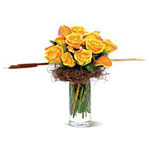 Rustic Roses: Get Well Soon Flowers to USA