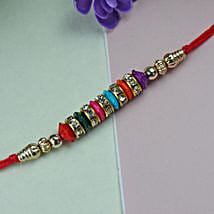 Simple Beaded Rakhi: Rakhi to San Francisco
