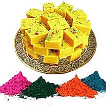 Soan Papdi with Holi Gulal: Send Sweets to USA