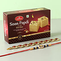 Soan Papdi With Set of 2 Rakhis: Send Rakhi to Tempe