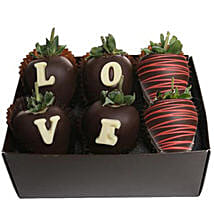 Strawberry Dipped In Belgian Chocolate: Send Birthday Gifts to Omaha