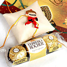 Superhero Rakhi With Rocher: Rakhi to New Jersey