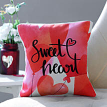 Sweet Heart Cushion: Send Anniversary Gifts to USA