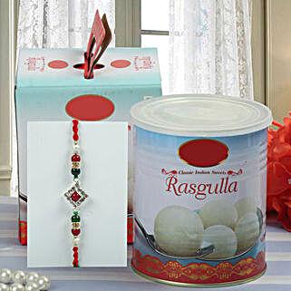 Tasty Rakhi Celebration: Rakhi With Sweets to USA