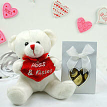 Teddy Bear N Assorted Chocolates: Send Valentine Gifts to Chicago