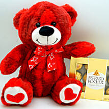Teddy Bear N Ferrero Rocher: Valentine's Day Gift Delivery Chicago