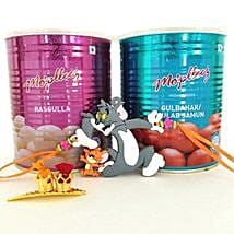 Tom And Jerry Rakhi With Sweets: Send Rakhi to Ontario