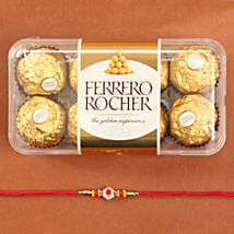 Traditional Rakhi With Ferrero Rocher: Mauli Rakhi Delivery in USA