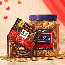 Two Assorted Ritter Sport Chocolates N Mix Nuts: