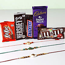 Ultra Chocolaty Rakhi Treat: Send Ethnic Rakhi to USA