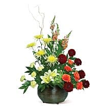 Warm Tones: Send Mothers Day Flowers to USA