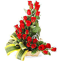 Cascade Of Romance 24 Red Roses In Basket: Gifts to Vietnam