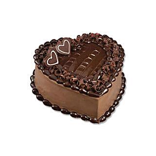 Chocolate Heart Cake: Send Gifts to Vietnam