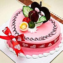 Decorated Pink Heart Cake: Gifts to Vietnam