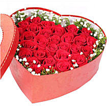 Romantic Affair Heart Box With 36 Red Roses: Gifts to Vietnam